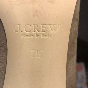 J. Crew Shoes - J Crew Kitten Heel Suede Nude Color Size 7.5